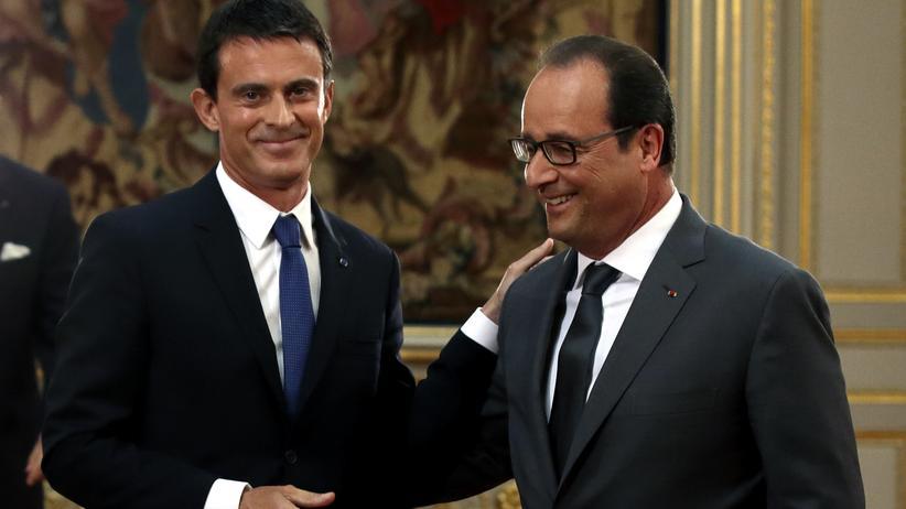 Konkurrenten: Der französische Präsident François Hollande und sein Premier Manuel Valls