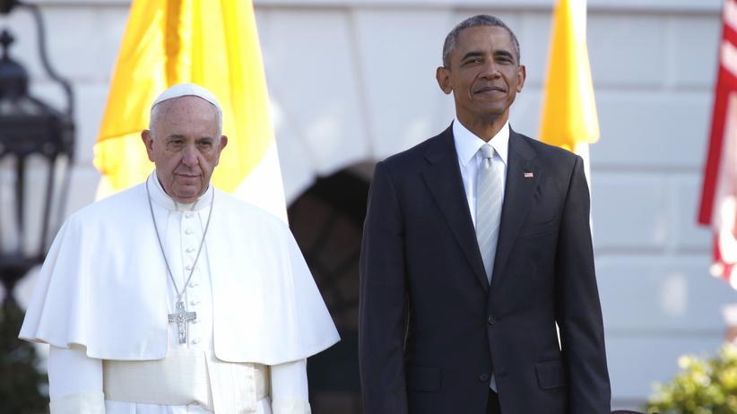 Papst Franziskus Obama