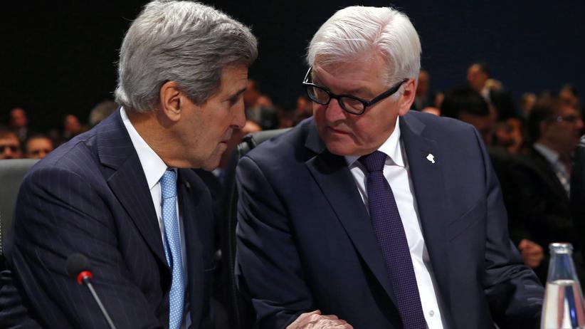 Frank-Walter Steinmeier: Steinmeier berät mit Kerry über Krieg in Syrien