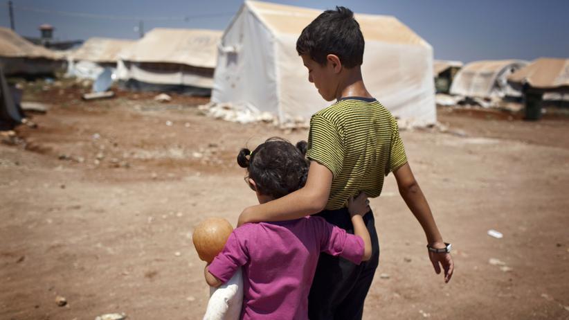 Syrien: Flüchtlinge in der syrischen Stadt Asas