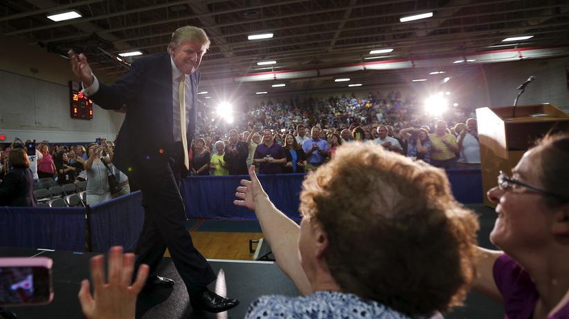 Donald Trump bei der Wahlkampfveranstaltung in Rochester, New Hampshire