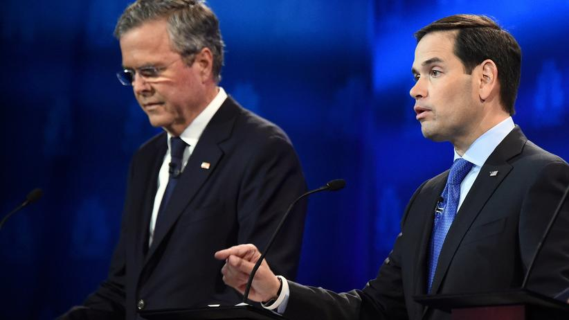 USA Präsidentschaftwahlkampf Marco Rubio Jeb Bush