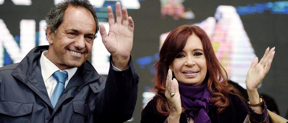 Cristina Kirchner und Daniel Scioli