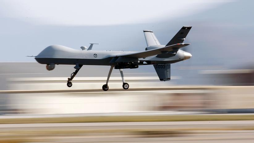Eine Reaper-Drohne auf der Creech Air Force Base in Nevada