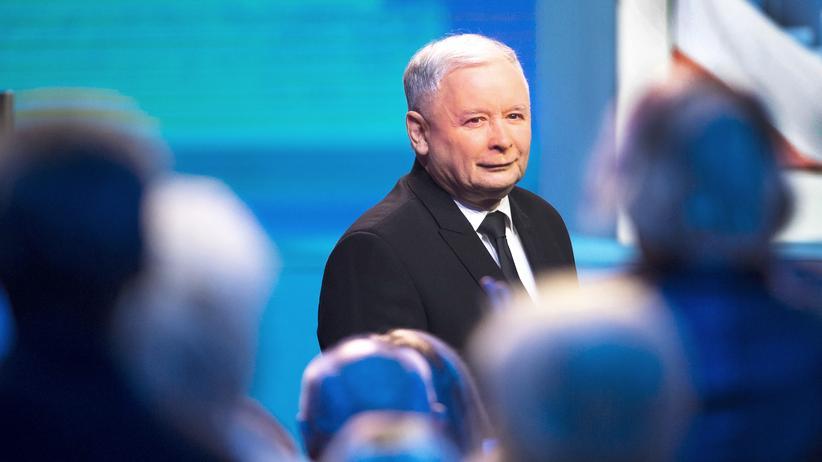 Jarosław Kaczyński bei einer Veranstaltung seiner Partei