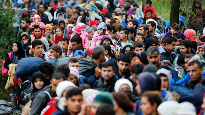 Flüchtlingskrise: Flüchtlinge an der kroatisch-ungarischen Grenze (Archivbild)