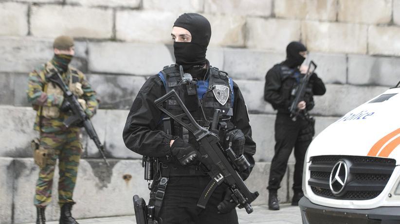 Belgien Polizei Anti-Terror-Einsatz