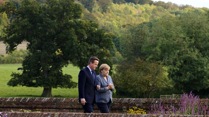 Angela Merkel und David Cameron während eines Treffens im Oktober 2015 in Aylesbury