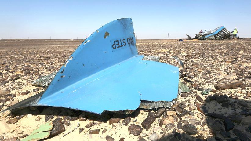Ägypten: Wrackteile des abgestürzten russischen Jets auf dem Sinai