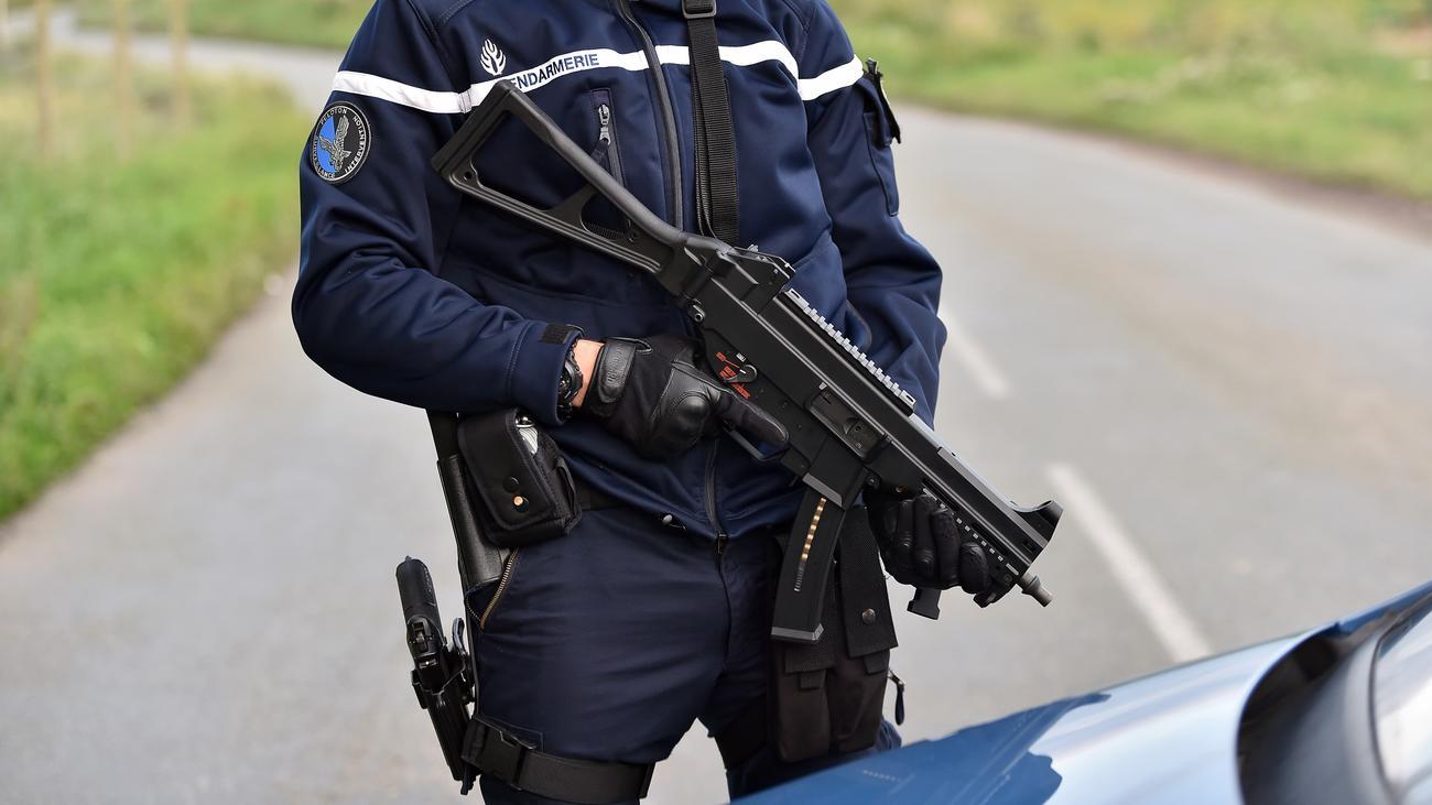 Maschinengewehr Polizei