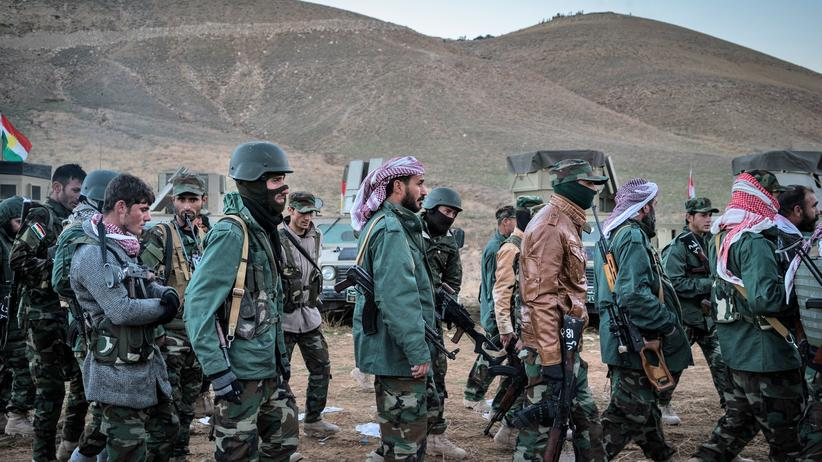 Nordirak: Peshmerga-Kämpfer vor der Offensive