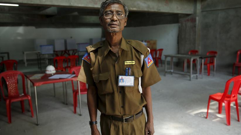 Wahllokal in Myanmar