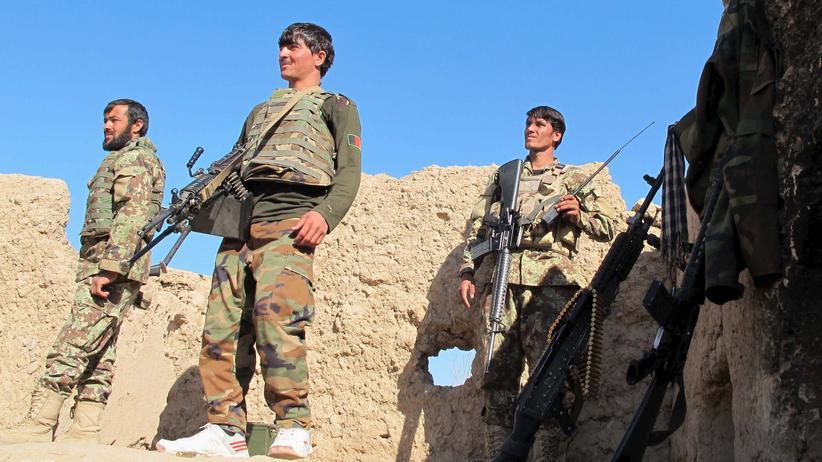 Afghanistan: Afghanische Soldaten an einem Außenposten in der Provinz Helmand