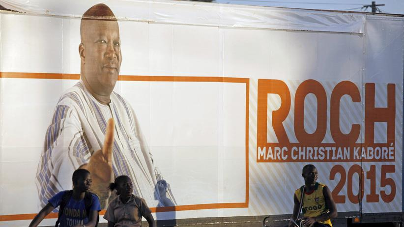 Burkina Faso: Wahlplakat von Roch Marc Christian Kaboré in Burkina Faso