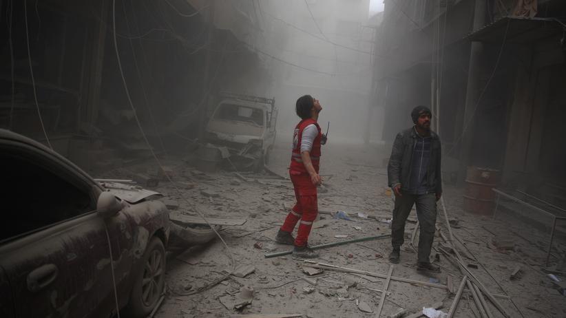 Syrienkrieg: In einem der umkämpften Vororte von Damaskus