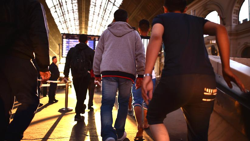 Flüchtlinge am Budapester Hauptbahnhof