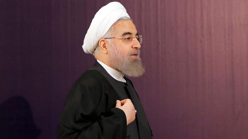 Terrorismus: Irans Präsident Hassan Ruhani auf einer Pressekonferenz in Teheran