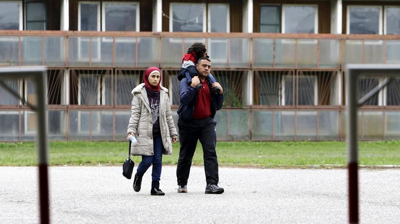 Flüchtlingskrise: Syrische Flüchtlinge in Gabcikowo, Slowakei