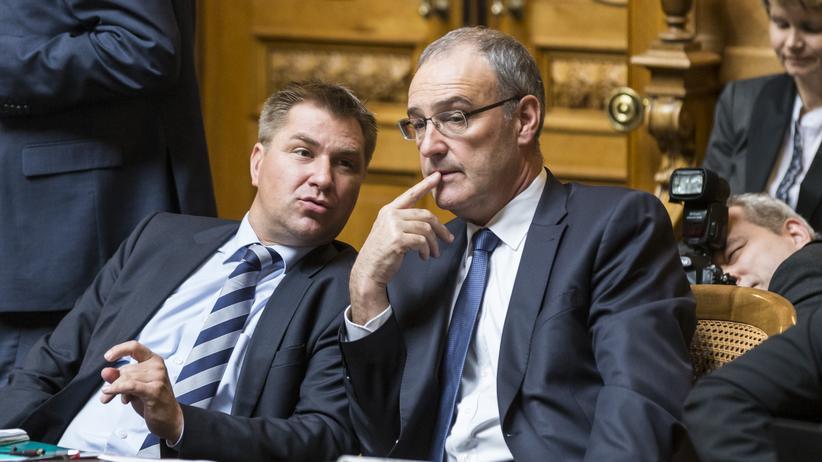 Toni Brunner und Nationalrat Guy Parmelin