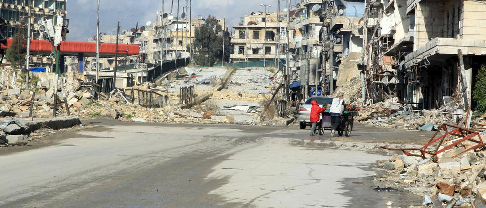 Der Stadtteil Al-Shaar in Aleppo Mitte Januar 2016