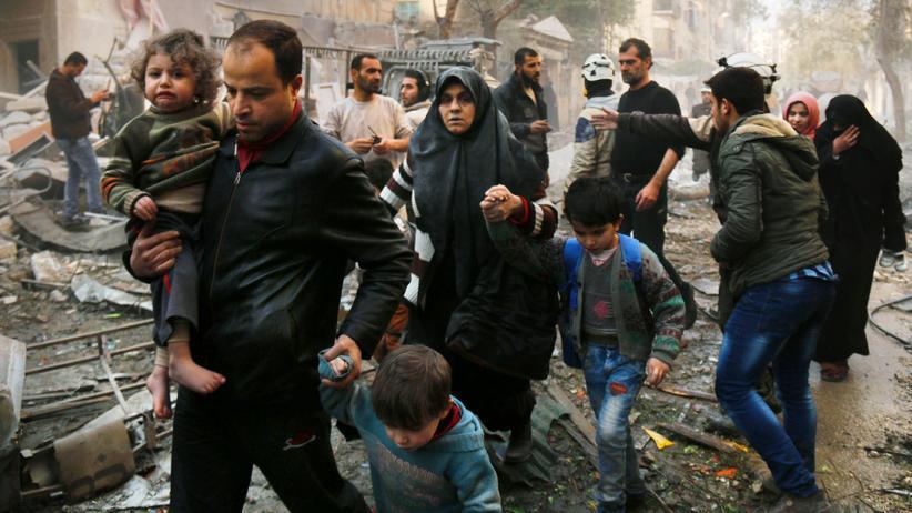 Syrien: Nach einem Luftangriff im syrischen Aleppo