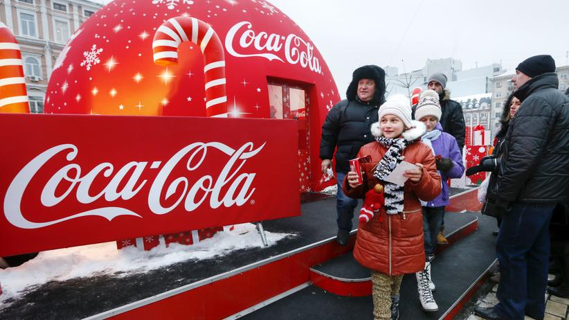 Ukraine: Coca-Cola- Werbung in Kiew