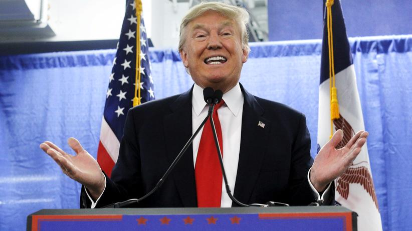 US-Wahlkampf: Der republikanische Präsidentschaftsbewerber Donald Trump bei einer Veranstaltung in Iowa
