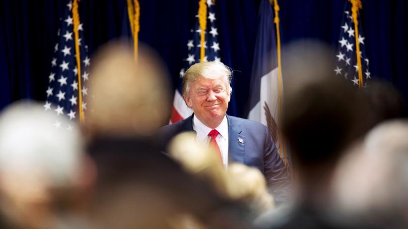 US-Wahlkampf: Donald Trump während einer Rede in Iowa