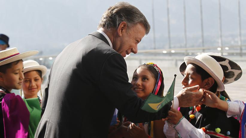 Lateinamerika-Gipfel: Der kolumbianische Präsident Juan Manuel Santos in Quito
