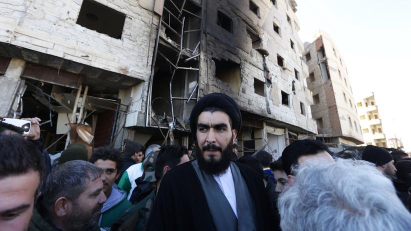 Syrien: Ein schiitischer Geistlicher am Anschlagsort in Damaskus