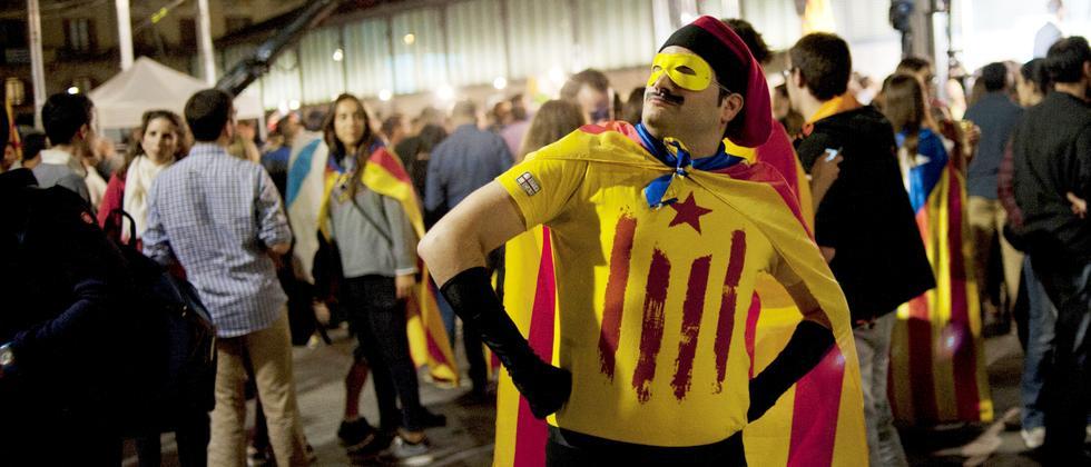 Ein Unabhängigkeitskämpfer nach den Regionalwahlen in Barcelona