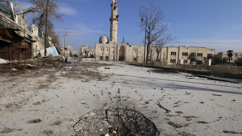 Krieg: Kriegszerstörungen im syrischen Aleppo