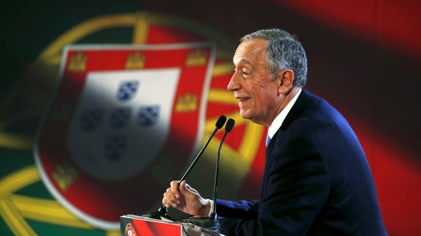 Portugal: Marcelo Rebelo de Sousa auf einer Wahlkampfveranstaltung in Lourinha