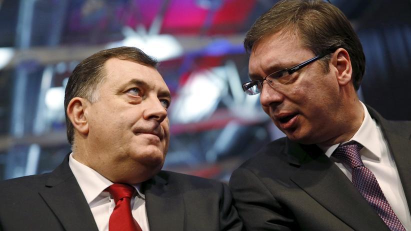Republika Srpska: Milorad Dodik (links) mit dem serbischen Ministerpräsidenten Aleksandar Vučić