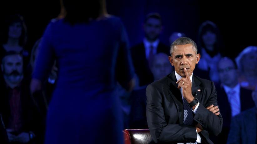USA: Barack Obama diskutiert mit Bürgern über schärfere Waffengesetze.