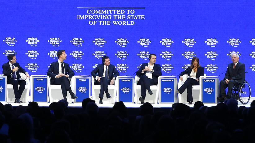 Das Podium in Davos über die Zukunft Europas