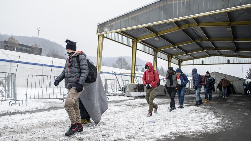 Flüchtlingspolitik: Flüchtlinge an der slowenisch-österreichischen Grenze