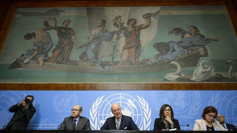 Bürgerkrieg: UN-Sondervermittler Staffan de Mistura verkündet in Genf den Zeitplan für die Syrien-Gespräche