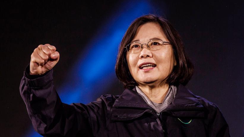 Die oppositionelle Kandidatin Tsai Ing-wen von der Fortschrittspartei (DPP) in Taiwan