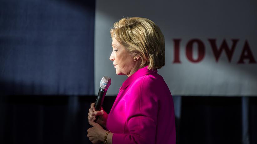 US-Präsidentschaftsbewerberin Hillary Clinton während ihrer Kampagne im Staat Iowa