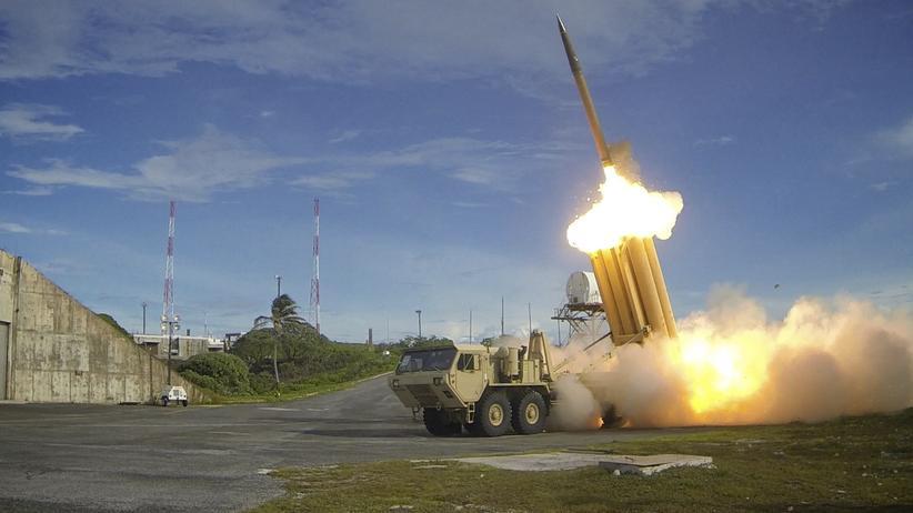 Aufrüstung: Geschoss des US-Raketenabwehrsystems THAAD