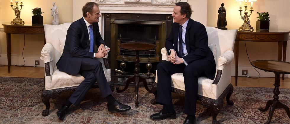 David Cameron und Donald Tusk bei Gesprächen in London