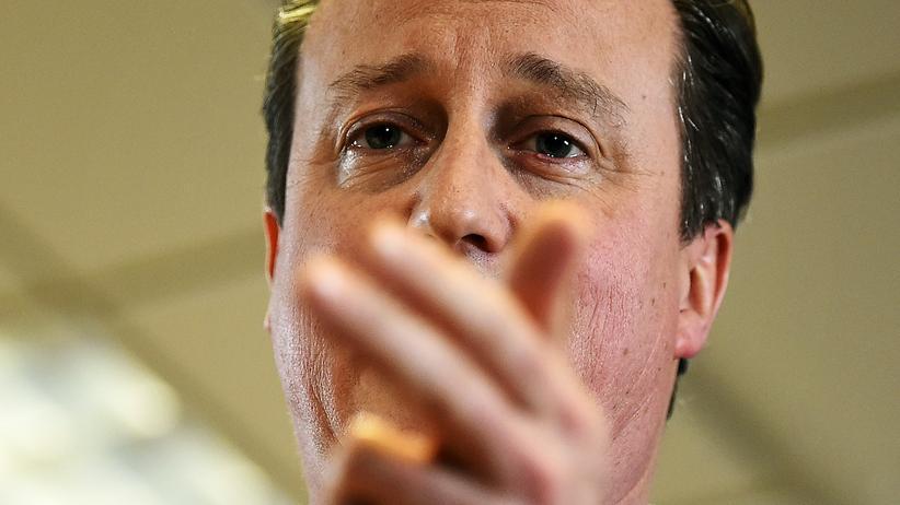 Großbritannien: Der britische Premierminister David Cameron nach den Verhandlungen in Brüssel.
