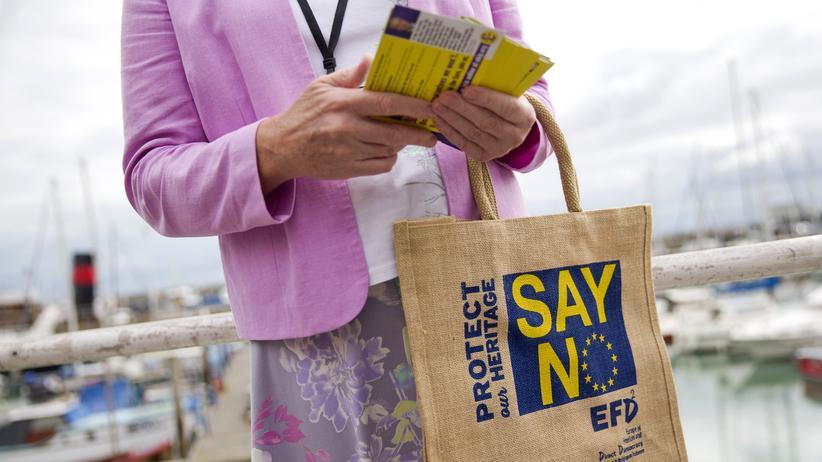 """EU-Reformpläne: """"Sag Nein zur EU"""": Eine Brexit-Befürworterin in London bezieht Stellung"""