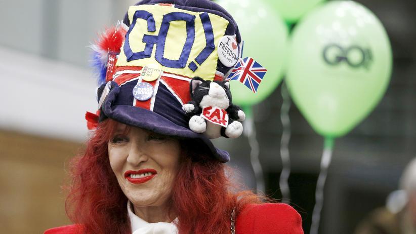 Brexit-Referendum: Unterstützerin des Brexit – des Ausscheidens Großbritanniens aus der EU