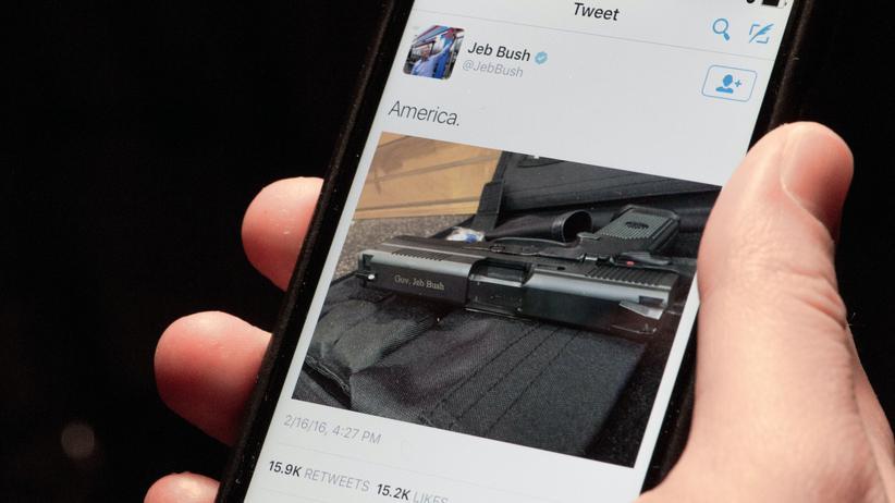 US-Wahlkampf: Jeb Bushs Waffen-Tweet