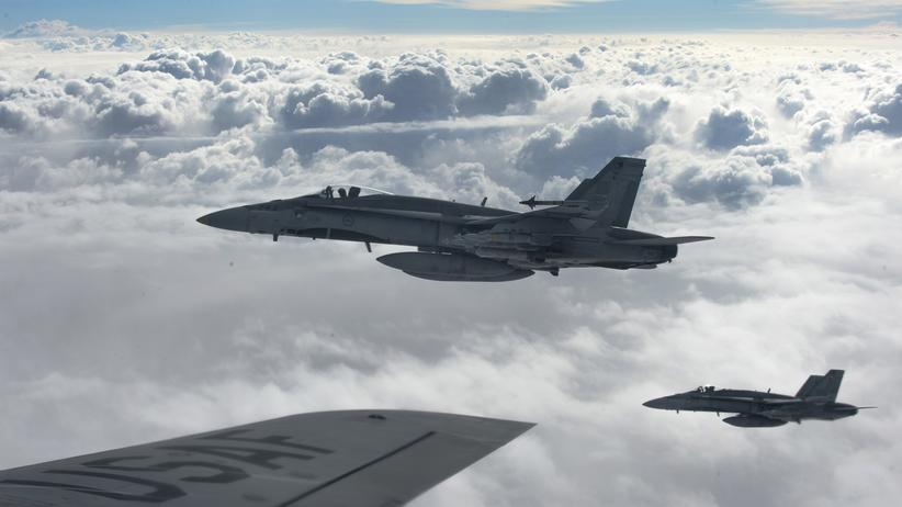 """""""Islamischer Staat"""": Der Einsatz der kanadischen Kampfjets gegen die IS-Miliz endet im Februar."""