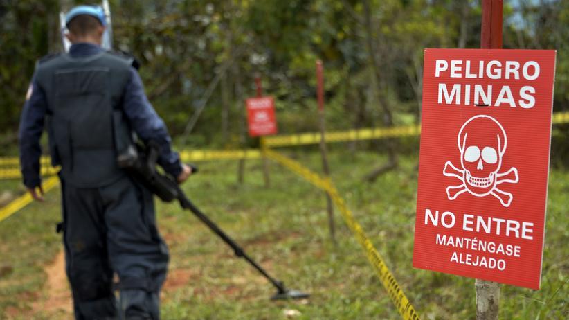 Ein Teil der 450 Millionen US-Dollar soll für die Beseitigung aller Landminen – wie hier in Campo Alegre – verwendet werden.