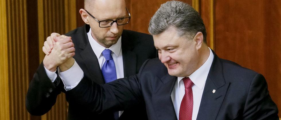 Poroschenko und Jazenjuk