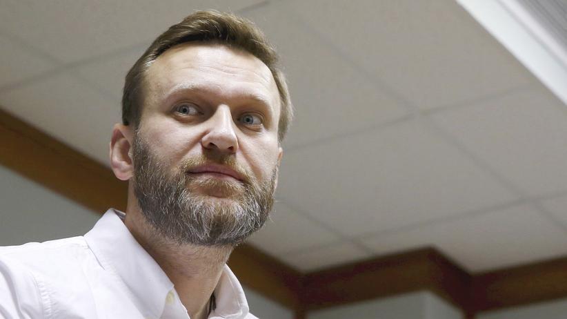 Russland: Alexej Nawalny vor einem Moskauer Gericht am 12. Februar 2016